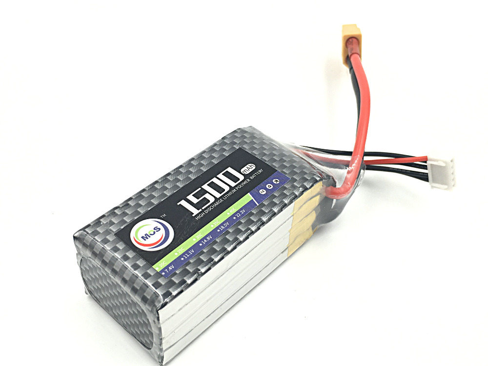 все цены на MOS 4S lipo battery 14.8v 1500mAh 25C For rc helicopter rc car rc boat quadcopter Li-Polymer battey  free shipping онлайн