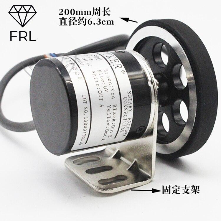 L'encodeur mètre roue 200mm longueur rouleau mètre précision 1mm peut être connecté à PLC