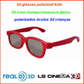 20pcs/lot Passive 3D Glasses Polarized Kids Plastic frame Glasses for Children 3D Polarized