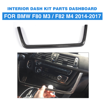 Carbon Fiber Interior Dashboard Sound Kit Parts Decorative for BMW F80 M3 Sedan F82 F83 M4 Coupe 2014 - 2018 Left Hand Driving image