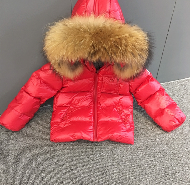 2017 New Winter Baby Girls Boys Classical Red 90%down Content Hoodie Down Jackets