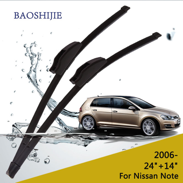"""Limpiaparabrisas para Nissan Note (desde 2006 en adelante) 24 """"+ 14"""" estándar fit J gancho limpiaparabrisas brazos"""