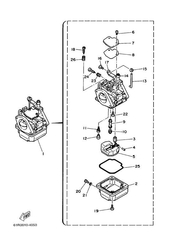 25 yamaha carburetor diagram