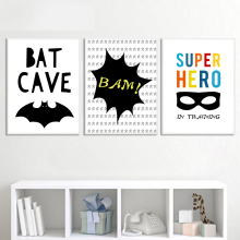 AFFLATUS Batman Superhero Nordic Poster Wall Art Canvas Painting Posters And Prints Pictures Style Kids Decoration