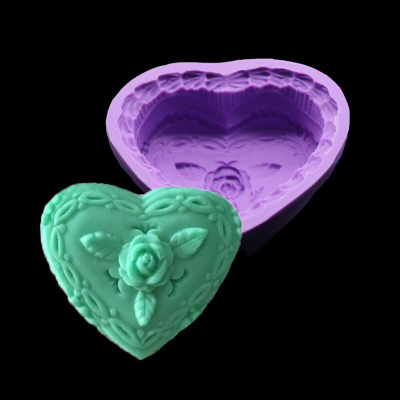 El Nuevo en forma de Corazón Jabón Molde de Silicona Chocolate Fondant Herramien