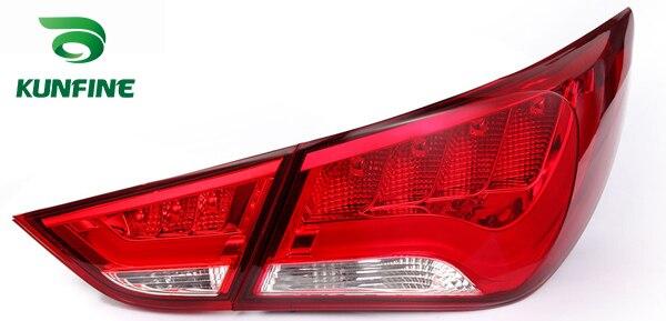 Pair Of Car Tail Light Assembly Brake Light For HYUNDAI SONATA 2011 With Turning Signal Light pair of car tail light assembly for honda city 2014 brake light with turning signal light