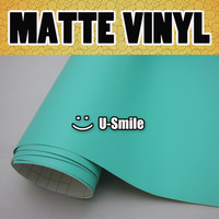 New Cute Color Matte Tiffany Blue Vinyl Wrap Roll With Air Channels For Auto Body Wrapping