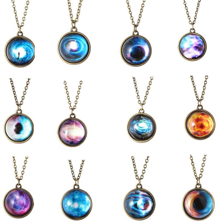 New-Vintage-Handmade-Glass-Ball-Planet-Universe-Starry-Sky-Galaxy-Pendant-Necklace-Women-Fashion-Time-Gem