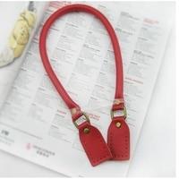 FASHIONS KZ 2 Pcs 60cm Genuine Leather Bag Handle Strap Shoulder Hardware Ring Banding For DIY