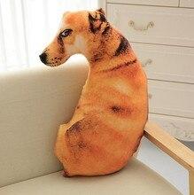 CAMMITEVER animal de dibujos animados Peluche de imitación juguete de perro cachorro muñeca, sofá cama cojín almohada, regalo de cumpleaños creativo para niños