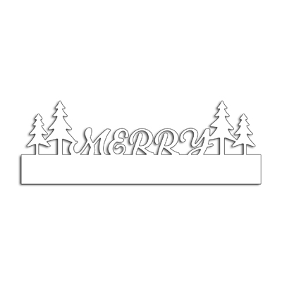 Scrapbooking Dies Merry Christmas tree Strip Metal Cutting Dies Craft DIY New Embossing Stencil Paper Card Decor Making Template