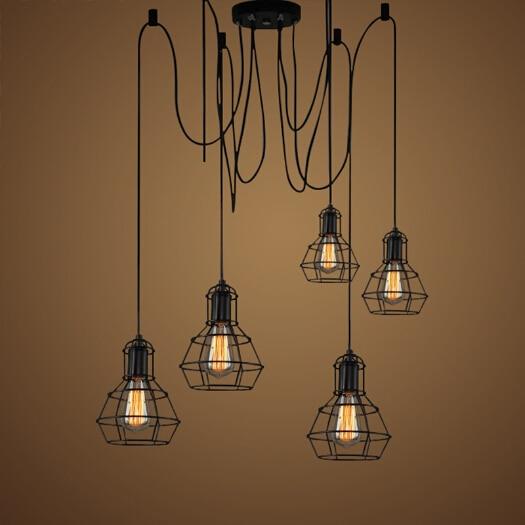 Vintage Pulley Pendant Lamp Loft Design Style Lights Dining Lampara