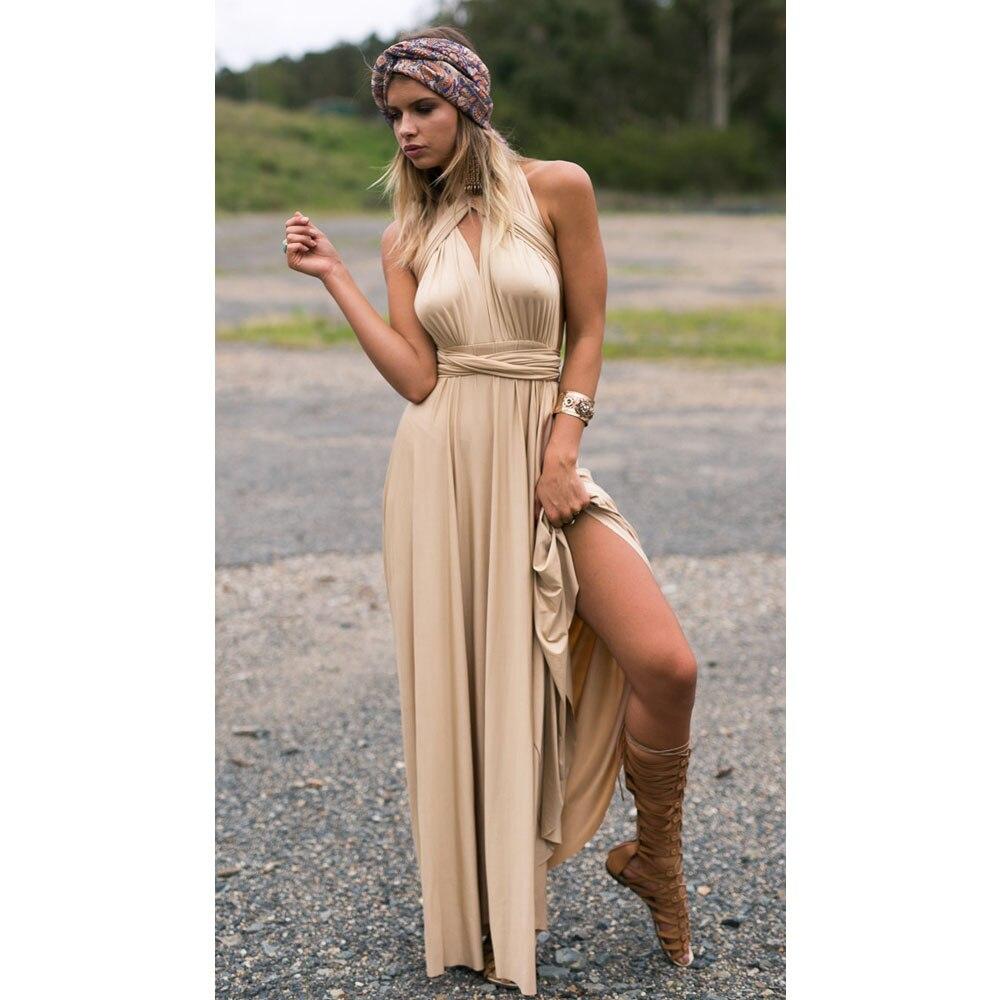 2018 mode Frauen Sexy Lange Partykleid Club Bodenlangen Sommer Maxi ...