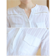 Korean Style Women's White Casual Shirt