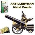 2016 Новый Piececool 3D Металлические Головоломки Артиллерист 3d-модели Металла 3D Лобзики с 3d Лазерной Резки Листового металла для Детей DIY игрушки