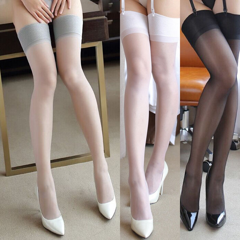 Summer Hot Women Stocking Lace Top Silicone Band Stay Up Thigh High Stockings Pantyhose Long Stocking