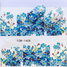 2018 New, Watermark Stickers, Flowers, Small Fresh Nail Stickers. Hot Selling Style