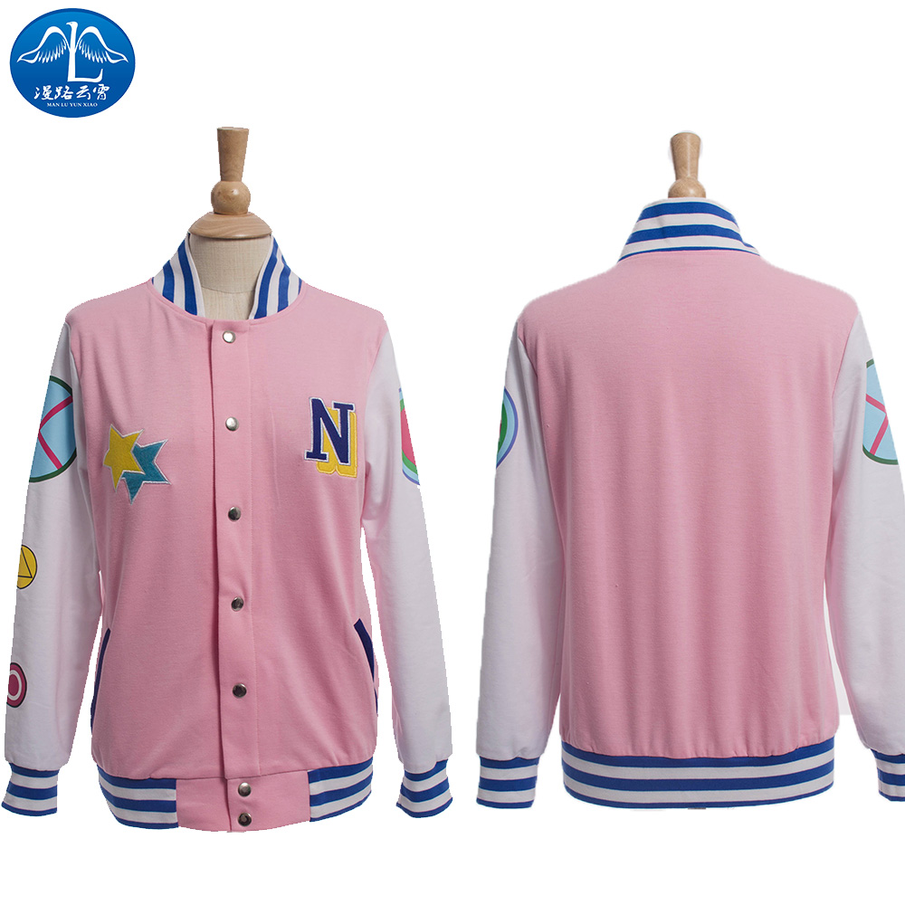 ManLuYunXiao Cosplay Costume Nagisa Hazuki Cosplay Costume Iwatobi Club Cosplay Unisex Baseball Jacket Free Shipping