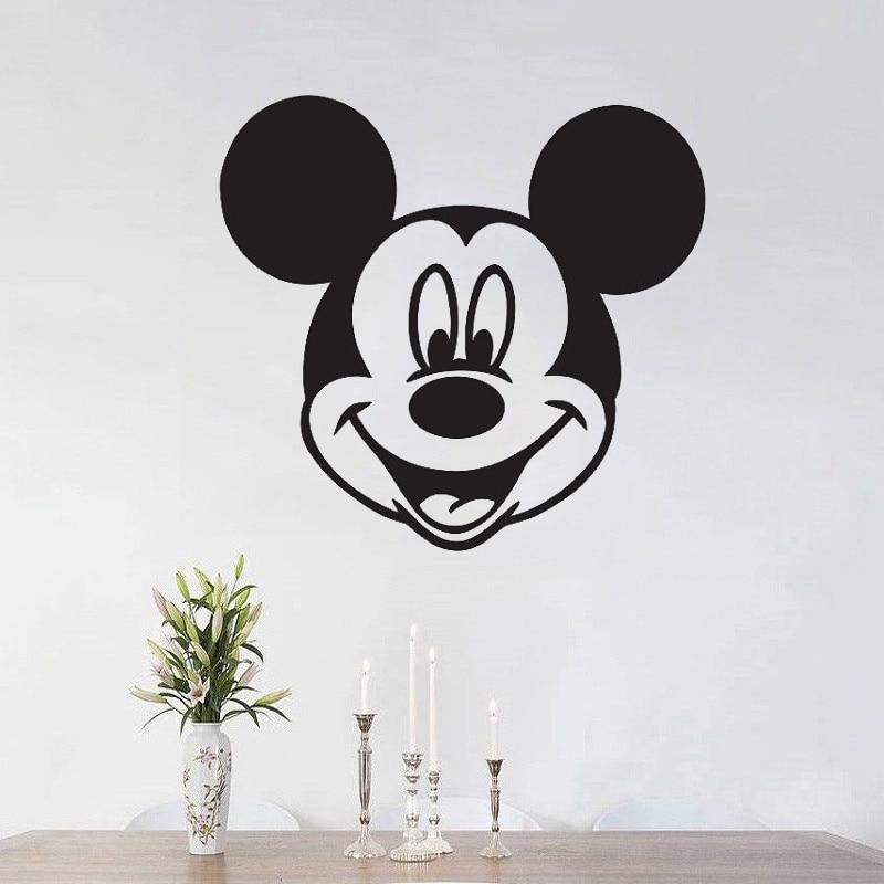 Mickey Mouse Cabeca Decalque Da Parede Adesivo De Vinil Para