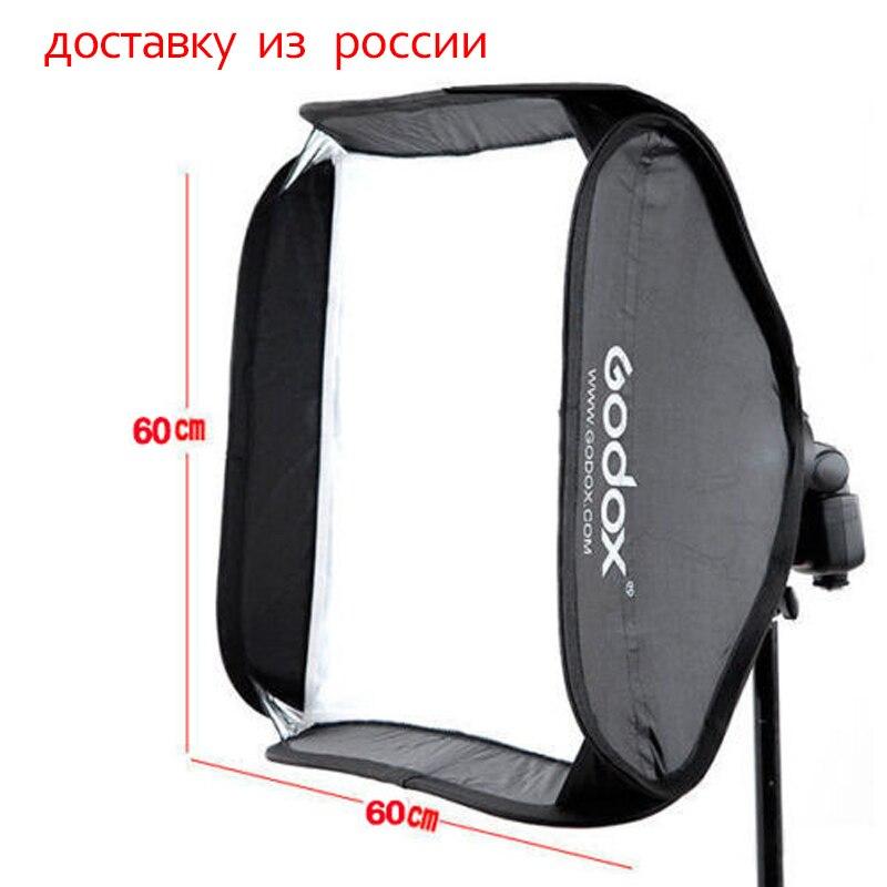 Godox 60x60 cm Softbox Kit bolsa para cámara Flash de estudio con Bowens Elinchrom montaje estilo soporte