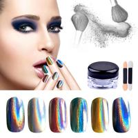 1 Pcs Shiny Pearl Nail Glitter Colorful Magic Mirror Hologram Nail Powder Silver Laser Dust Manicure