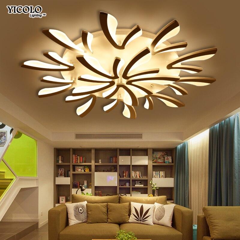 Modern Led Ceiling Chandelier Lights For Living Room Bedroom Dining Study Room White Black Body Ac90-260v Chandeliers Fixtures Ceiling Lights & Fans
