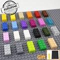 MARUMINE Кирпич 2x4 Развивающие игрушки для детей MOC Обучающий набор классические строительные блоки Совместимые белый другой бренд - фото