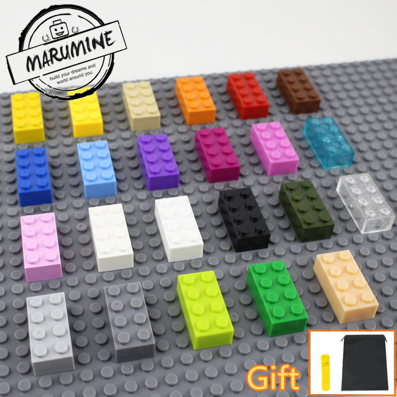MARUMINE Brick 2 x 4 Educational toys for children MOC learning set Classic building blocks Compatible Whit other brand 499pcs turtle lair attack building brick blocks set gift classic toys compatible with lepine 79103 toys for children
