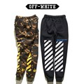 High Quality Off White Camo Men Joggers Classic Joint Stripes Mens Trousers Camouflage Military Pants Offwhite Fitness Joggers