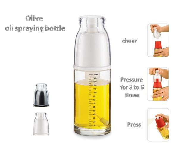 NEW GLASS OIL SPRAYER Olive Spray Vinegar Bottle Mist Healthy BBQ tooling  in kitchen