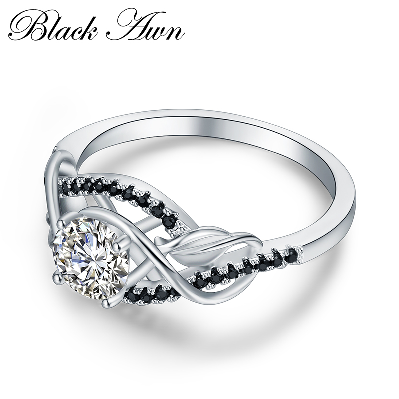 Trendy 3.5 Gram 100% Asli 925 Sterling Perhiasan Perak Hitam & Putih - Perhiasan bagus - Foto 3