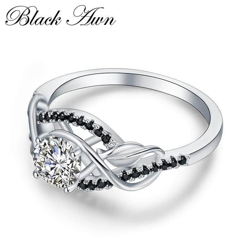 Trendy 3.5 Gram 100% echte 925 Sterling zilveren sieraden zwart / - Fijne sieraden - Foto 3