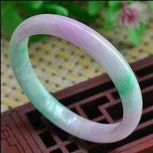 Женский нефритовый браслет солнцезащитный зеленый фиолетовый нефритовый браслет 62 мм 00165