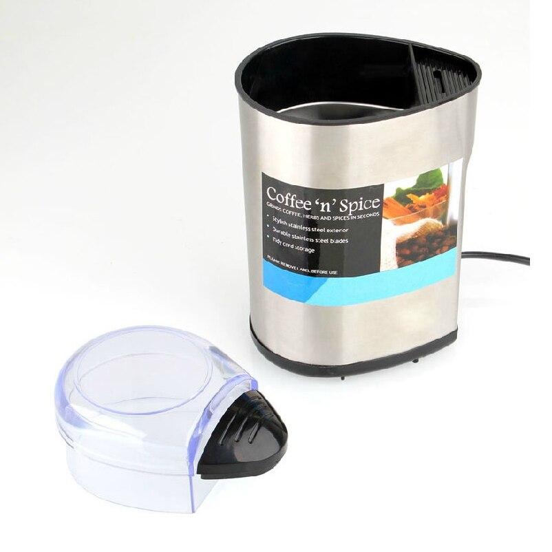 JIQI Elektrische Kaffeemühle Edelstahl Kaffee Maker Elektrische Kaffee Maschinen Für Haushalts Bohne Spice Maker Schleifen