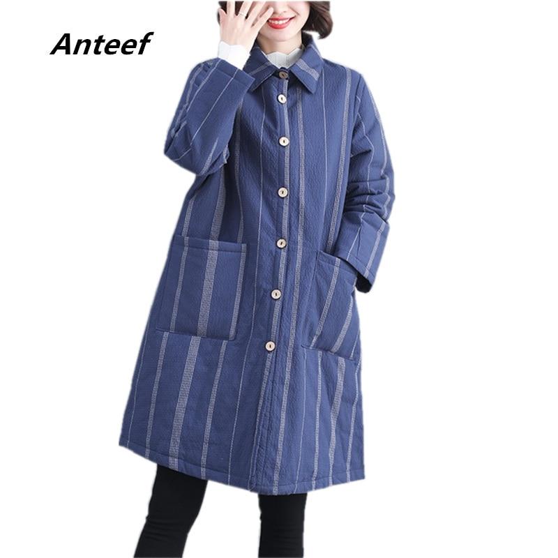 Aliexpress.com: Comprar Anteef plus size algodón rayado