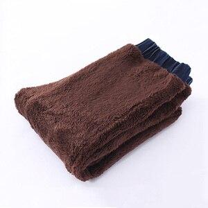 Image 2 - בני ג ינס החורף עבה חם ג ינס מכנסיים ילדים מוצק כותנה צמר מכנסיים ילדים בגדי אלסטי מותניים ג ינס 4 6 8 10 שנים
