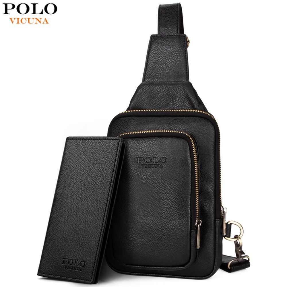 6f927233e3 VICUNA POLO High Quality Trendy Mens Crossbody Bag Fashion Casual Men s  Chest Bag Leisure Shoulder Bag