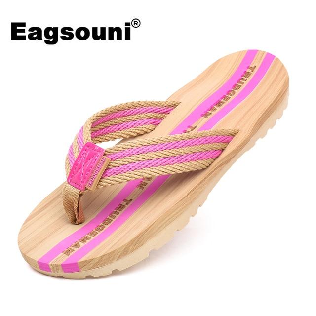 Eagsouni 2019 Mulheres de Verão Sapatos Moda Flip Flops Praia Chinelos Casa Casal