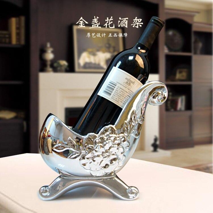 mode casier a vin en ceramique europeenne de haute qualite decoration porte gobelet vin vin bouteille rack salle de rack resine dans dessous de bouteille de