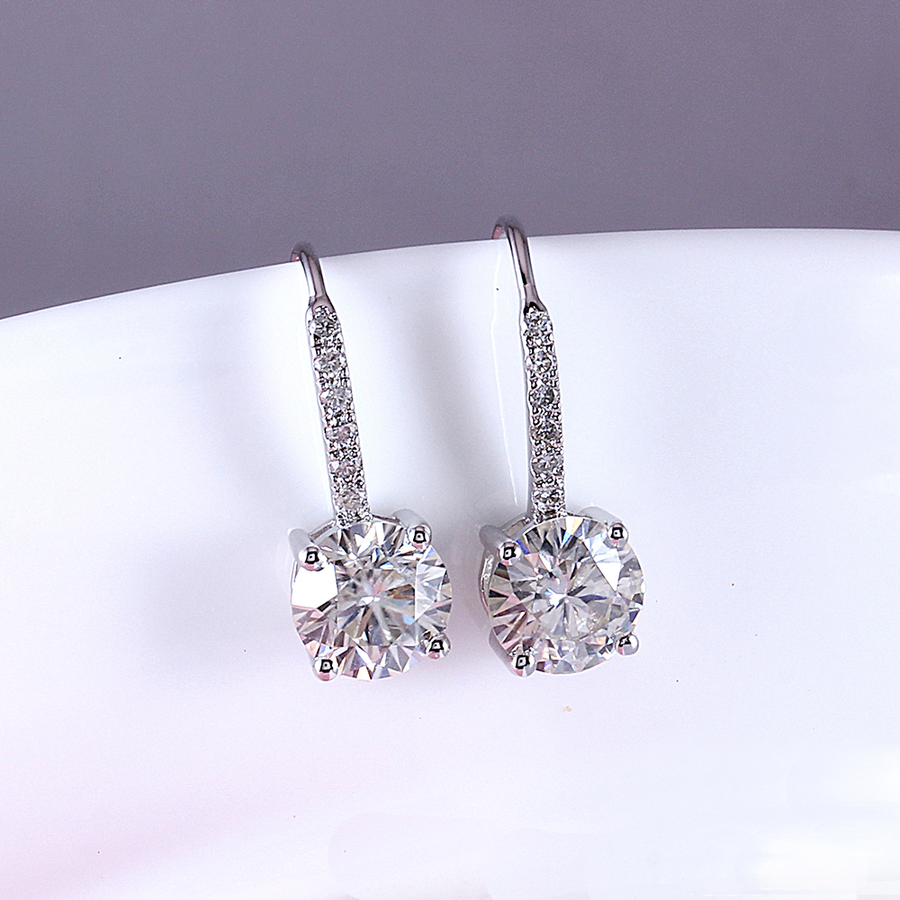 drop earring moissanite silver (5)