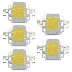 5 x High Power 10W LED Chip Birne Licht Lampe DIY Weiss 750LM 6500K(China)