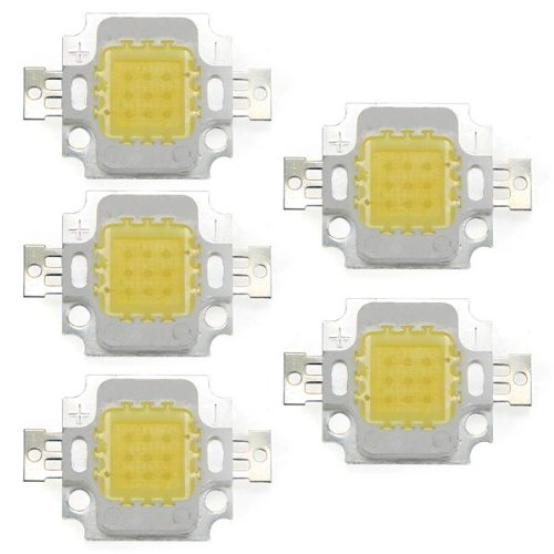 5 x High Power 10W LED Chip Birne Licht Lampe DIY Weiss 750LM 6500K