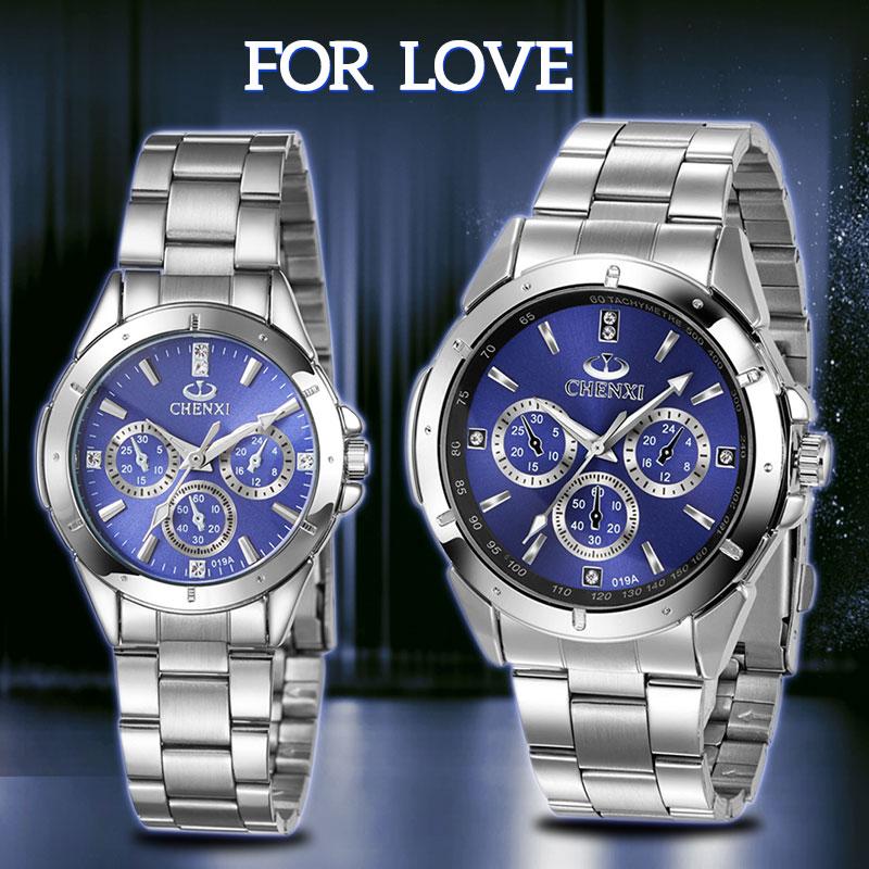 Luxury Brand Lover Watch Pair Waterproof Watches men Watches women Couples Lovers Watches Set Wristwatches Relogio Feminino 35