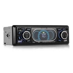 Bluetooth 1-Din Áudio Estéreo Do Carro In-Dash MP3 Radio Player Suporte a USB/TF/AUX/ receptor FM com Controle Remoto Sem Fio