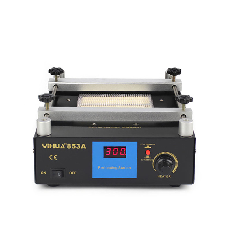 YIHUA 853A 110V 220V Welding Soldering Machine IR Preheater lead-free Infrared Soldering Stations BGA Repair Rework Station 853a bga constant temperature lead free preheating stations