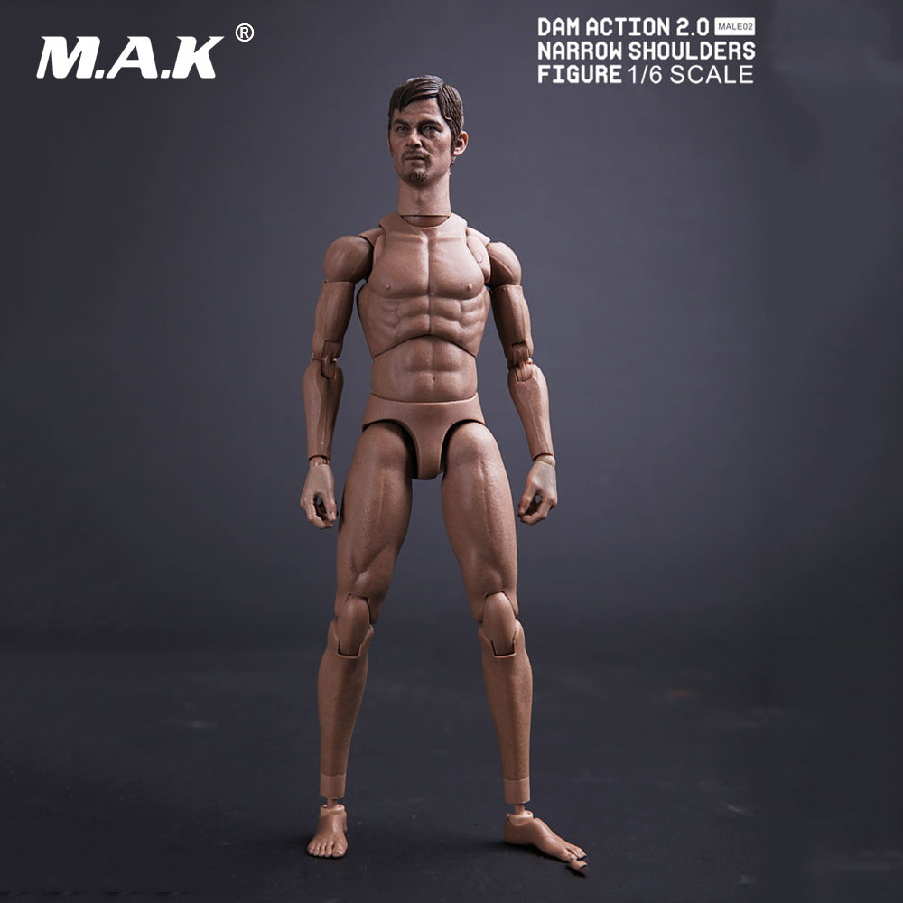 1/6 Walking Dead Male Action Figure Narrow Shoulders Body & Norman Mark Reedus Head & Accessroy MALE02 Model Toys for Collection 1 6 male narrow shoulder nude body action figure without head model doll toys gifts collections