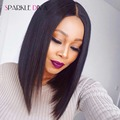 Lace Front Human Hair Wigs For Black Women Malaysian Straight Lace Frontal Wig 8A Top Lace Bob Wigs Human Hair With Baby Hair