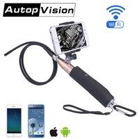ZCF110 6LED Wifi Endoscope Wireless Borescope Tube Snake Inspection Camera 720P 2 0MP Handheld 8mm For