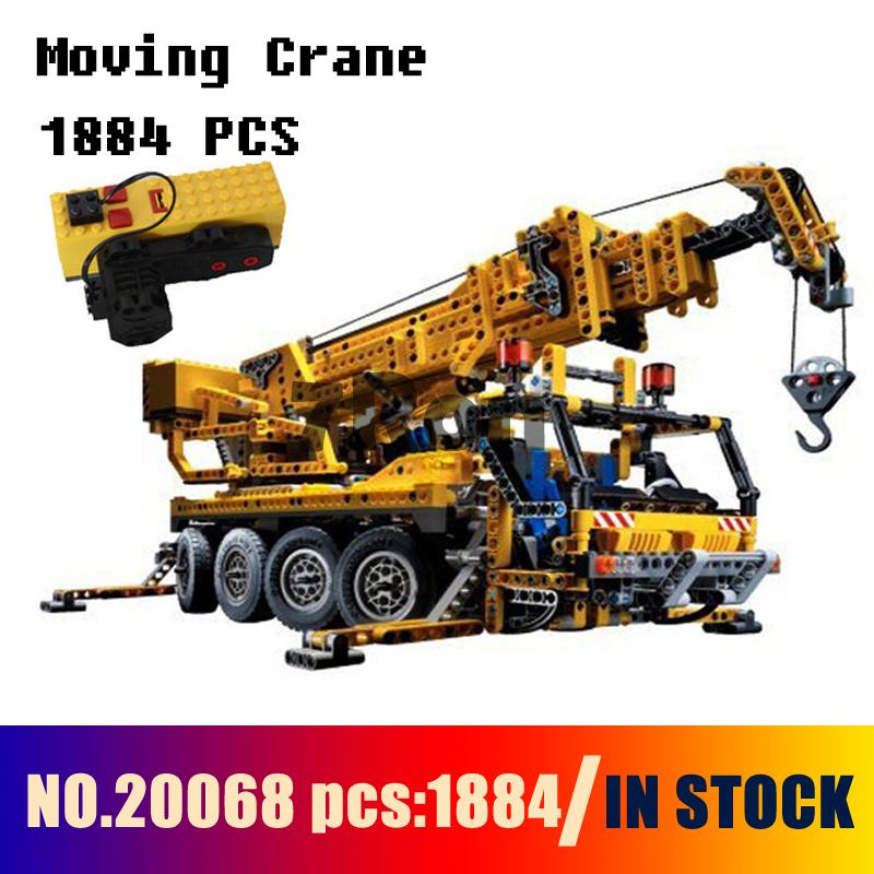 Compatible with lego 8421 Models building toy 20068 1884Pcs Technic Mechanical Series Moving Crane Building Blocks toy & hobbies building block set compatible with lego bang bao fairy series kung fu fight inserted blocks toy mysterious dragon hegemony 6606