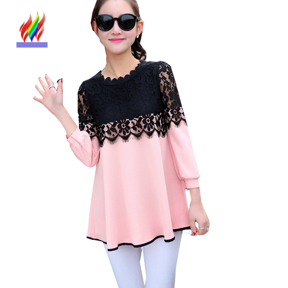 Pink And Black Blouse Breeze Clothing